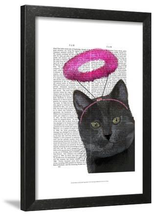 Black Cat With Pink Angel Halo