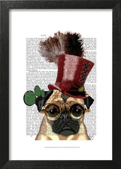 Pug with Steampunk Style Top Hat Posters by Fab Funky at AllPosters.com da9dd1fa008f