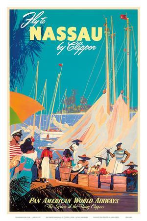 Fly to Nassau by Clipper - New Providence Island, The Bahamas - Pan American World Airways (PAA)