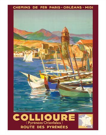 Collioure, France - Eastern Pyrenees - Railways Paris-Orleans-Midi