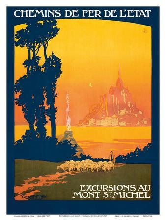 Excursions Au - Mont St. Michel - Normandy, France - French State Railways
