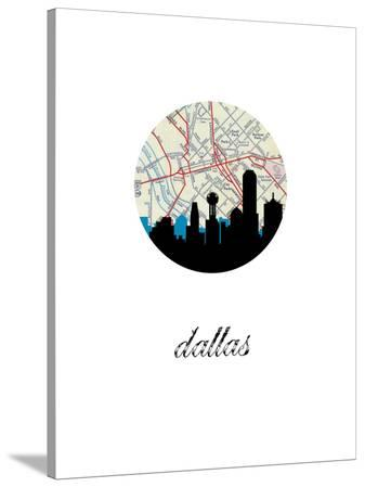 Dallas Map Skyline