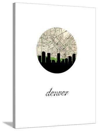 Denver Map Skyline