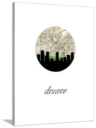 Denver Map Skyline