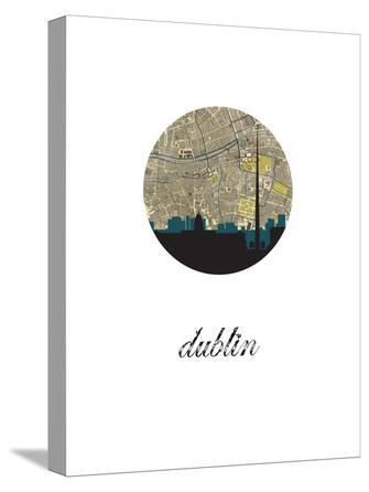 Dublin Map Skyline