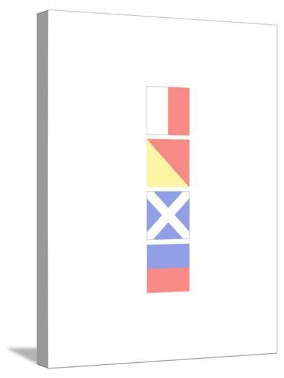 Home Nautical Flags Stretched Canvas Print by Jetty Printables at ...