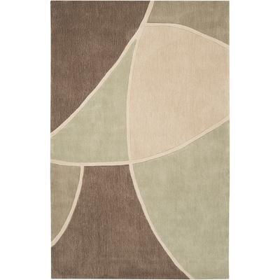 Cosmopolitan Geometra Area Rug - Olive/Beige 5' x 8'
