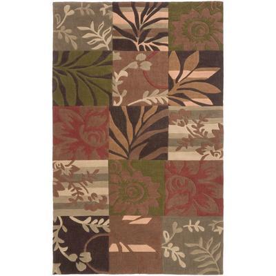 Cosmopolitan Flora Area Rug - Mocha/Rust 5' x 8'