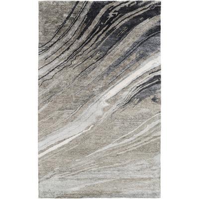 Gemini Area Rug - Gray/Ivory 5' x 8'