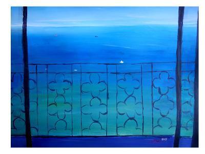 Romantic Balcony In The Mediterranean