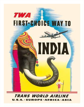 First Choice Way to India - TWA (Trans World Airlines)