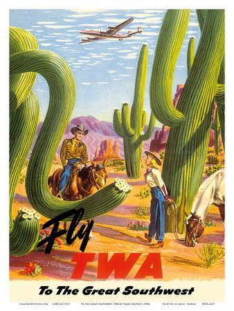 To the Great Southwest - Fly TWA Trans World Airlines