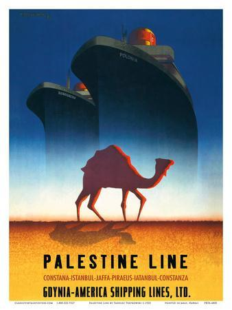 Palestine Line - Gdynia-America Shipping Lines - Polish Ocean Liners SS Kosciuszko and SS Polonia