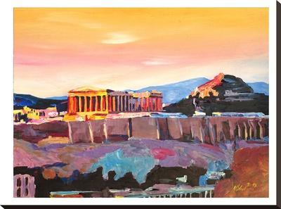 Athens Greece Akropolis At Sunset Neu