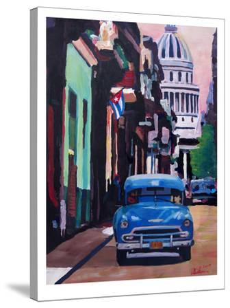 Cuban Oldtimer Street Scene In Havanna Cuba With Buena Vista Feelinng