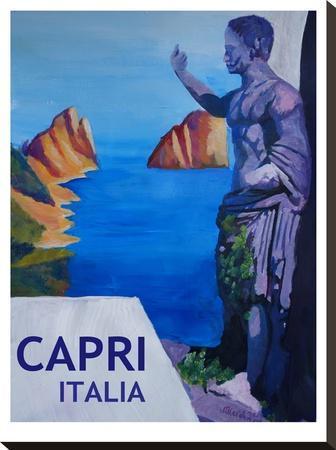 Capri With Ancient Roman Empire Statue