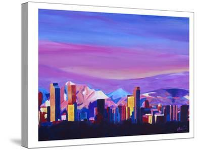 Denver Colorado Sunset Mood With Mountains
