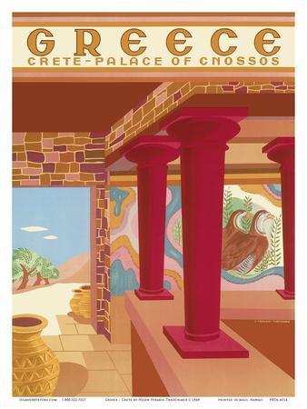 Greece - Crete - Palace of Cnossos (Knossos)