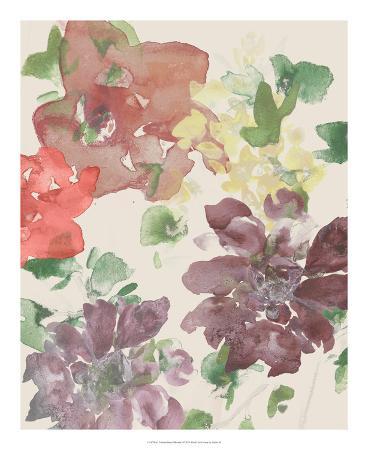 Fuchsia Inked Blooms I