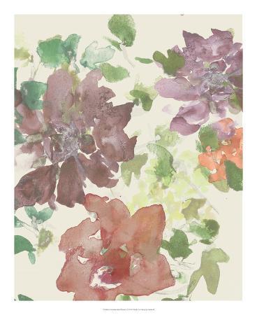 Fuchsia Inked Blooms II