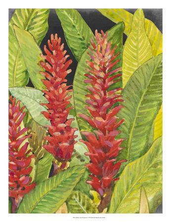 Red Tropical Flowers II