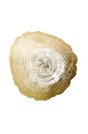 Gold Foil Tree Ring IV