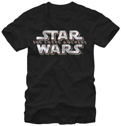 Star Wars The Force Awakens- Distressed Raised Logo