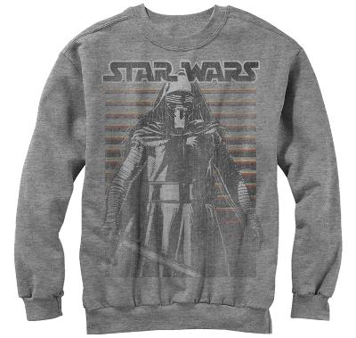Crewneck Sweatshirt: Star Wars The Force Awakens- Kylo Ren Force Tremors