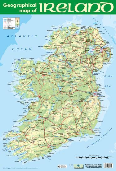 Print Map Of Ireland.Geographic Map Of Ireland