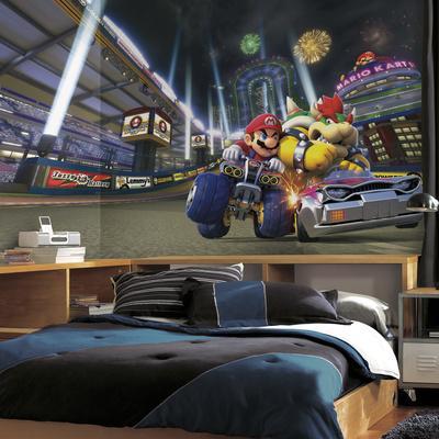 Mario Kart 8 XL Chair Rail Prepasted Mural