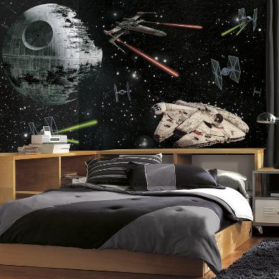 Star Wars Vehicles XL Chair Rail Prepasted Mural