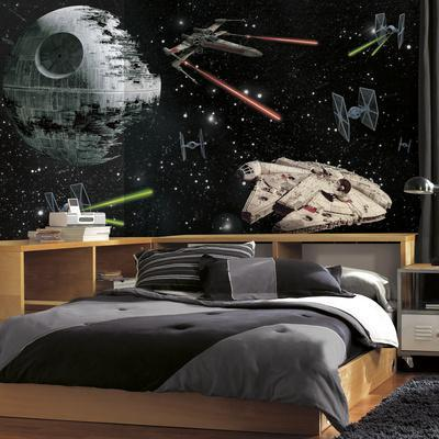 Star Wars Vehicles XL Chair Rail Prepasted Mural