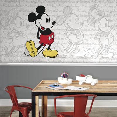 Mickey Mouse - Classic Mickey XL Chair Rail Prepasted Mural