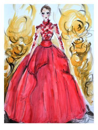 Rose Red Gown