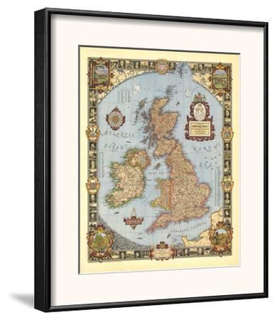 1937 A Modern Pilgrim's Map of the British Isles
