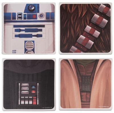 Star Wars 4 Pc Ceramic Coaster Set