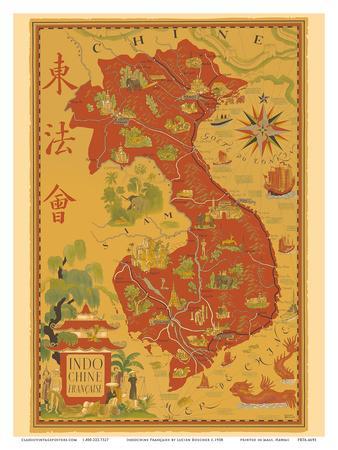 Indochine Francaise - French Indochina - Vietnam, Cambodia, Laos