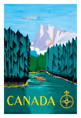 Canada - River Log Driving
