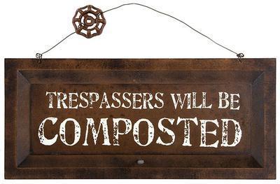 Compost Warning Sign