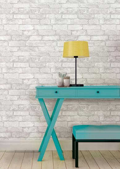 White Brick Peel Stick Wallpaper