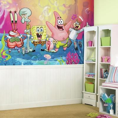 SpongeBob Squarepants XL Chair Rail Prepasted Mural