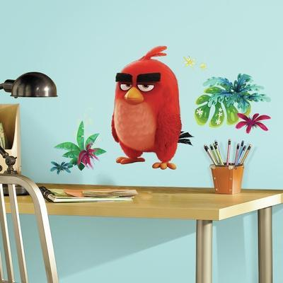 Angry Birds the Movie Red Peel and Stick Giant Wall Decals