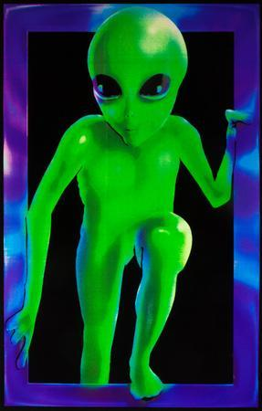 Alien Visitor Blacklight Responsive Poster