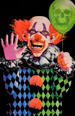 "Evil Clown Blacklight Poster 23/"" x 35/"" Laminated"