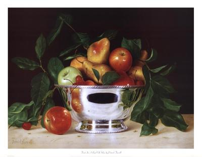 Fruit In a Bowl Of Silver