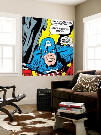 Marvel Comics Retro: Captain America Comic Panel, Villain Monologue, Say your Prayers