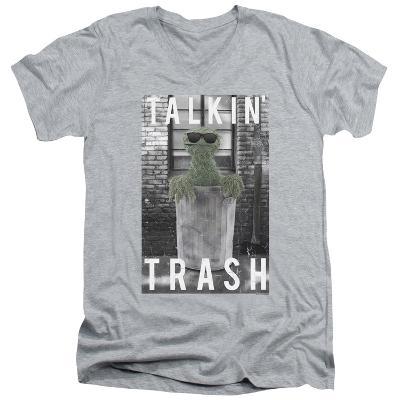 Sesame Street- Oscar Talkin Trash V-Neck