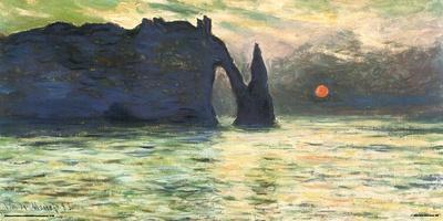 Monet- Etretat Sunset, C. 1883