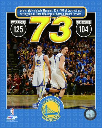 The Golden State Warriors set the NBA All-Time record for wins in a season at 73- April 13, 2016