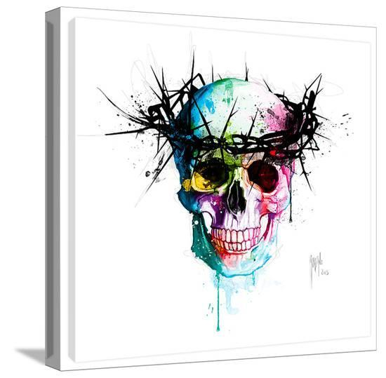 Jesus Skull Gallery Wrapped Canvas By Patrice Murciano At